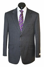 VARCE - MEN'S PURE WOOL CHARCOAL PINSTRIPE FORMAL BUSINESS SUIT & TROUSERS