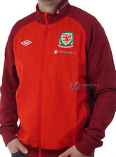 BNWT Wales Umbro Woven Training Football Jacket Vermillion Red Mens  XL