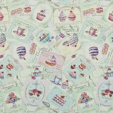 Shabby Chic Duckegg Patisserie PVC Vinyl Wipe Clean Tablecloth; Rectangle, Round