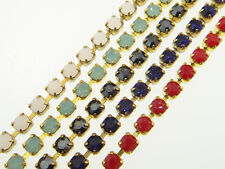 Austrian Crystal Rhinestone Chain 2.5 mm (18pp) Premium Colors 3 Feet