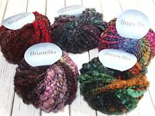Plymouth Brunello Yarn 1.75oz Bulky Thick n Thin Wool Blend Select Color