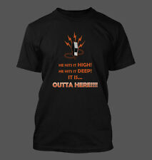 OUTTA HERE!!! T-Shirt - San Francisco Giants Duane Kuiper Home Run Call Krukow