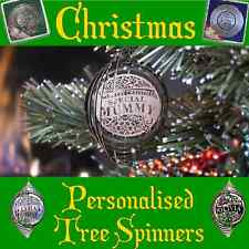 Personalised Christmas Tree Spinners - Beautiful Decorations - Names A-J