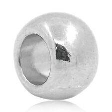 Wholesale HOT! Jewelry Spacer Beads Round Silver Tone 6x5mm