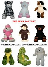 THE BEAR FACTORY - 15 Inch Stuffed Animals or 15 Inch UN-Stuffed Animal Kits