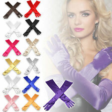 """Hot 22"""" Satin Evening Gloves Above Elbow Wedding Bridal Long Gloves Party"""