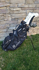 NEW MIURA GOLF  Stand Carry Bag Black with Gold or White Logo Lettering