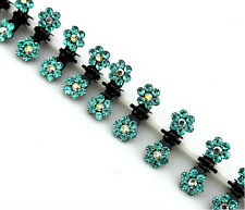 6pcs Girls Sweet Crystal Rhinestone Flower Mini Hair Claws Clips Clamps,new