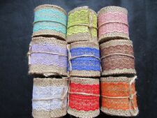 60mm*2yards Natural Jute Burlap Hessian Ribbon Lace Trim Rustic Wedding Crafts
