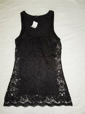 New Women's Express Black Lace Overlay Tank Top - Size XS, S, M - NWT
