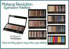 MAKEUP REVOLUTION REDEMPTION EYESHADOW PALETTE NUDE SMOKEY SHIMMER NAKED BROWN