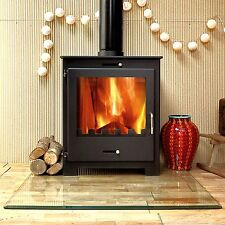 Nero 11kw Contemporary Modern Woodburning Stove Stoves log burner Multi fuel