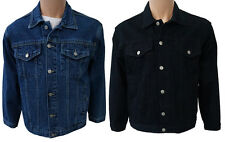 Mens aztec denim jean jackets stonewash and black sizes from S to 5XL