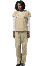Brand New Orange is the New Black Beige Prisoner Suit Adult Costume