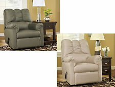 NEW ASHLEY DARCY SIGNATURE FABRIC UPHOLSTERED ROCKER RECLINER IN SAGE OR STONE
