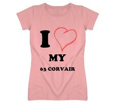 I Heart  My 1963 Chevy Corvair I Love NY Parody Car T Shirt