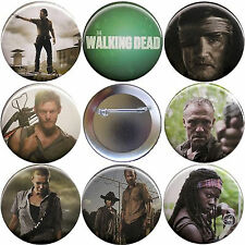 The Walking Dead Season 3 Set of 8 Buttons, Magnets or FlatBacks - Pins Badges
