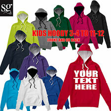 SG KIDS Contrast Hoodie Printing Custom Design Your Own Personalised Printed