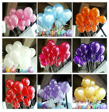100 Pearlised Latex Helium Balloons Decorations Wedding Party Birthday 10""