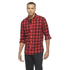 Chor Men's Buffalo Check Cotton Shirt - Red