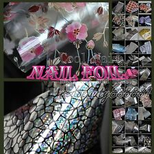 1 Roll of 56 Design Many Flowers Nail Art Polish Glue Transfer Foil Tips Sticker