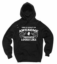 Firefighter Hoodie Birthday Gift Hooded Sweatshirt Firefighter Sweater