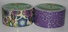 Brand New Exclusive Duck Brand Duct Tapes!! Purple Flowers, and Flowers!!