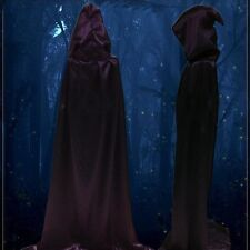Unisex Hooded Cloak Coat Wicca Robe Medieval Wedding Cape Shawl Halloween Party