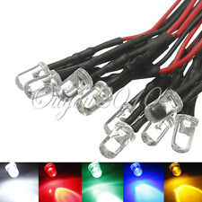 20CM 3mm/4.8mm/5mm/8mm/10mm 12V Pre Cableado Wired Luz Emitting Diodo LED Lote