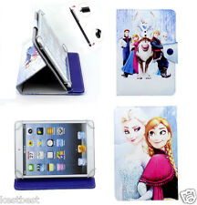 "Pen & Disney Frozen Cartoon Leather Case For 7"" Visual Land Prestige Tablet"