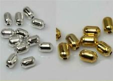 TOP QUALITY TUBE SPACER BEADS 8mm x 5mm 50 PER BAG SILVER or GOLD PLATE