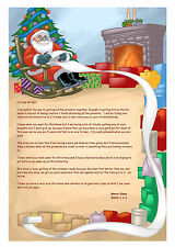 Personal Letter From Father Christmas, Santa,North Pole PM*inc colouring sheet*