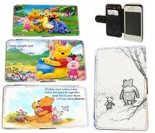 Winnie the Pooh and Piglet leather wallet flip phone case S3,S4, S4 Mini, S5