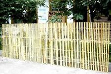 Bamboo Necklace Style Ornamental Fence, Natural finish, 6'L x 4'H & 6'L x 3'H