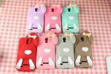 Buck teeth rabbit Case For Samsung Note 2 /NOTE 3/Galaxy S4 /S3  Silicone Cover