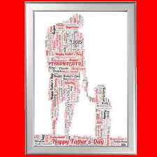 PERSONALISED DAD FATHER DADDY GIFT - WORD ART FOR HIM ON BIRTHDAY CHRISTMAS ETC