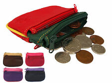 Womens Girls Multi Coloured Quality Cute Pigskin Leather Coin Purse Money Pouch