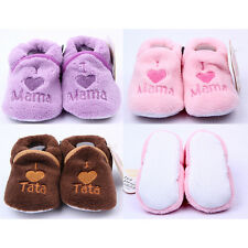 Baby Girl Boy Unisex Coral Fleece Booties Shoes Slippers Newborn Toddler 0-12M