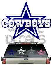 *BUY 2,GET 1 FREE*****COWBOYS CAR DECAL VARIOUS SIZE & COLOR WINDOW STICKER FLAG