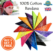Paisley Bandanna Head-Wear / Hair Bands Scarf Neck Wrist Wrap BUY 3 GET 1 FREE