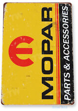 "TIN SIGN ""Mopar Parts"" Metal Decor Wall Art Garage Auto Shop Cave A507"