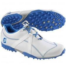 """Footjoy M Project Spikeless Golf Shoe - 55264 - White/Blue - """"Mfg Closeout"""""""