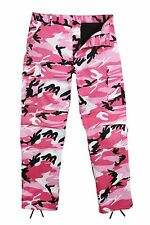 ROTHCO Military Camouflage BDU Pants Style 8670 Pink Camo Mens Sizes XS thru 2XL