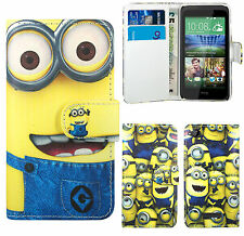 DespicableMe Minion Leather Wallet Case Cover For HTC Desire 310 500 510 610 816