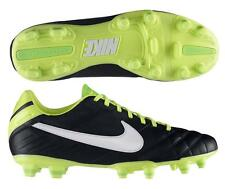 Nike Tiempo Mystic IV FG Soccer Cleats 454309-013 Black/Green/Volt/White Legend