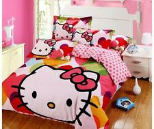*** Hello Kitty My Heart Queen Bed Quilt Cover Set - Flat or Fitted Sheet ***