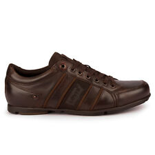 Mens Levis Leather Low Cut Dark Brown Trainers