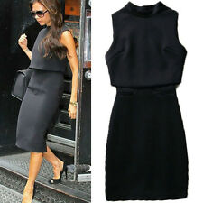 Victoria Beckham Style OL Formal Pencil Bodycon Two-piece Two Pieces Dress Slim