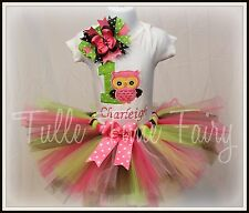 Personalized Owl theme First 1st birthday tutu dress onesie t-shirt  12m, 18m