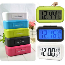 LCD Back light Digital Snooze Alarm Clock Control Time Date and Thermometer